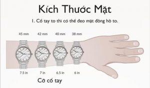 Tay nhỏ đeo đồng hồ size bao nhiêu là hợp lý